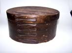 click to view detailed description of A 19th century  6 Finger ANTIQUE Baleen Oval DITTY Box circa 1840