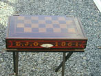 click to view detailed description of An American Civil War Era Painted Games Box Dated 1861