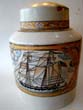 click to view detailed description of A Chinese Export 'style' porcelain tea jar with American ship motif