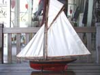 click to view detailed description of A gaff rigged Victorian Cutter Style Pond Boat circa 1880-1900