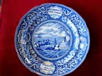 click to view detailed description of A fine Commemorative plate depicting the Landing of the Pilgrims, American Independence and George Washington