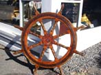 click to view detailed description of A wonderful 8 spoke Ships Wheel circa 1890-1900