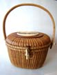 click to view detailed description of A vintage Nantucket 'Friendship' basket signed Barlow