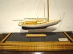 click to view detailed description of A fine scratch built model of a Wianno Senior circa 1936 made by Cape Cod model boat builder tom Lauria