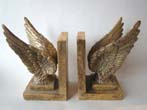 click to view detailed description of An attractive pair of contemporary gilded wings bookends