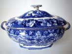 click to view detailed description of A lovely 19th century WEDGWOOD covered tureen in the Landscape pattern circa 1840