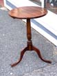 click to view detailed description of A George III period diminutive Plum Wood Tripod Table on Cabriole Legs with Pad Feet circa 1770