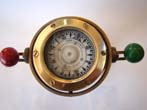 click to view detailed description of A fine small ships compass on stand by Coubro & Scrutton of London circa 1920