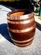 click to view detailed description of A rare 19th century copper bound oak barrel