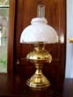 click to view detailed description of A 19th century oil lamp by RAYO, converted to electricity
