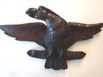 click to view detailed description of A 19th century carved American eagle circa 1870