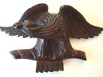 click to view detailed description of A charming small antique 19th century carved American eagle circa 1870
