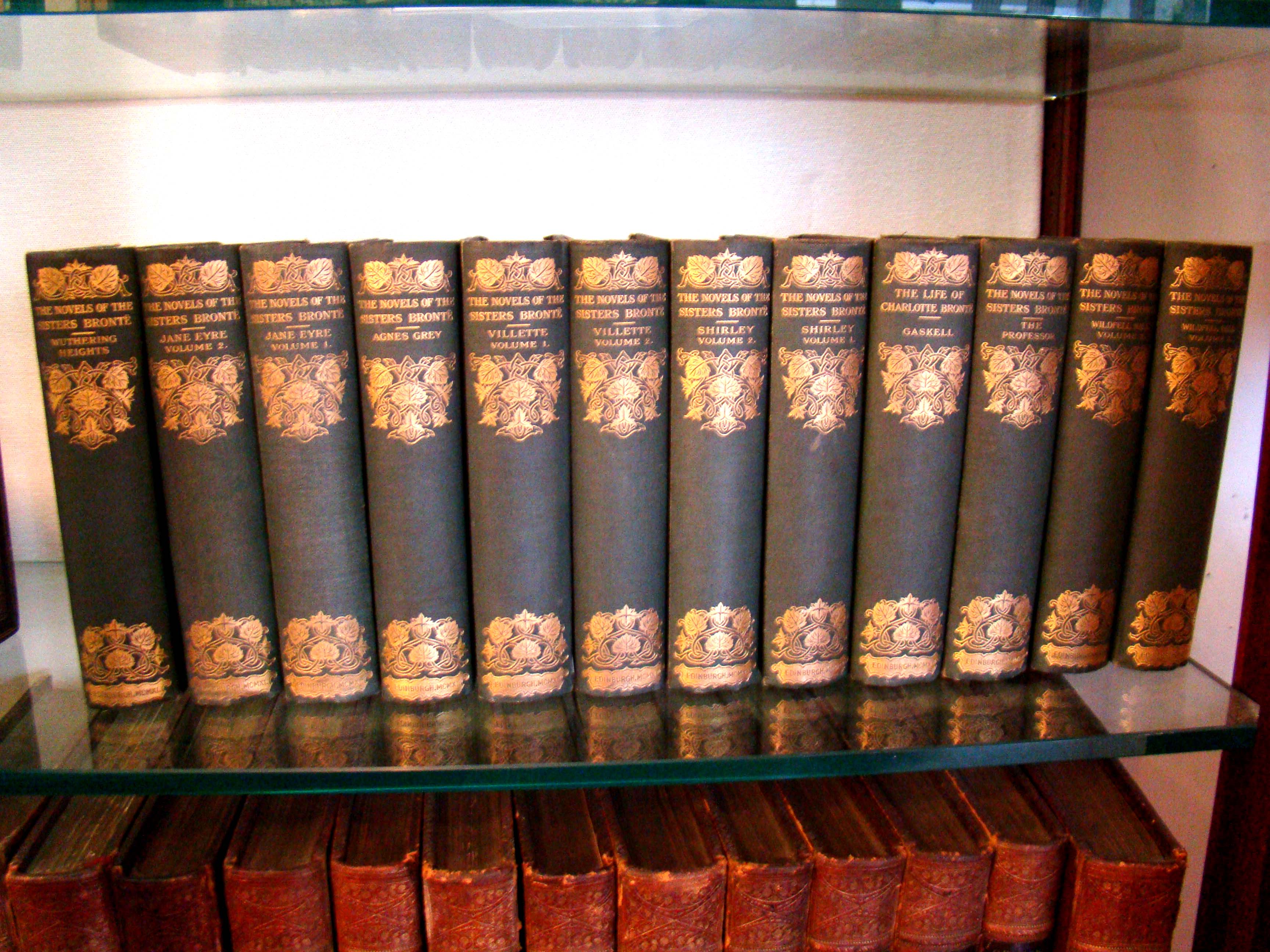 click to view detailed description of A fine and complete 12 volume set of 'The Novels of the Bronte Sisters,' Thornton Edition, published by John Grant of Edinburgh in 1911 and edited by Temple Scott