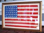 click to view detailed description of A RARE 39 star U.S. flag made in 1889