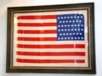 click to view detailed description of A beautiful silk 46 star flag in the
