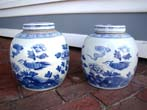 click to view detailed description of A nice pair of large Chinese Ginger Jars, 20th century