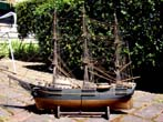 click to view detailed description of An antique ship model circa 1870-1880