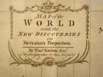 click to view detailed description of Thomas Kitchins Map of the World published in 1789