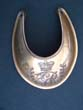 click to view detailed description of A late 18th century British Officers Gilt Brass Gorget circa 1796