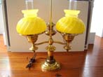 click to view detailed description of A lovely late 19th century double student lamp