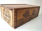 click to view detailed description of A charming Sailor carved Ditty box inscribed