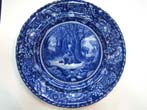 click to view detailed description of A fine historical Staffordshire plate circa 1905 depicting
