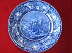 click to view detailed description of A fabulous and rare historical Staffordshire plate depicting