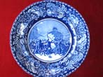 click to view detailed description of An historic and rare Staffordshire plate circa 1905 depicting