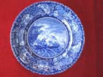 click to view detailed description of A Fabulous and RARE historical Staffordshire plate circa 1905 depicting