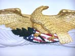 click to view detailed description of A Beautiful Hand Carved Eagle made by J.P. Uranker of Marthas Vineyard