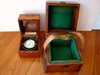 click to view detailed description of An Elgin National Watch Company Ships Clock with original carrying case circa 1950