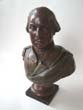 click to view detailed description of A fine Bust of Gen. George Washington made in France circa 1880