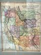click to view detailed description of A Map of the Western States of the United States published in 1887