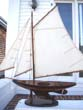 click to view detailed description of A lovely vintage gaff-rigged Pond Boat