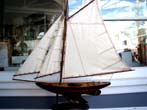 click to view detailed description of A small Nantucket sloop pond boat circa 1940-1950