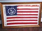 click to view detailed description of A Yacht Ensign made by the Bull Dog Bunting Company circa 1945-1955