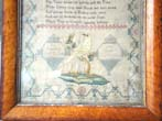 click to view detailed description of An English Schoolgirl Needlework Sampler signed