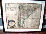 click to view detailed description of An early 18th century Map of Paraguay and Chili by Guillaume D Isle dated 1716