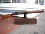 click to view detailed description of A late 18th or early 19th century steel barreled flintlock blunderbuss with swivel mount