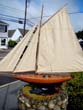 click to view detailed description of A 1930's 'style' gaff rigged racing model Pond Boat