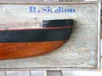 click to view detailed description of An English Half Hull Model, 20th century