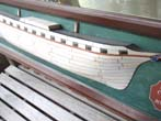 click to view detailed description of A 20th century  English Ivory Hulled Half Hull Model of the Iron ship Corinnas built in 1852