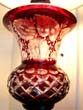 click to view detailed description of A beautiful vintage Bohemian cut crystal lamp
