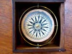 click to view detailed description of A fine boxed small boat compass by Joseph Molteni of Paris (1811-1852) circa 1840