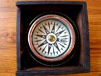 click to view detailed description of A fine 19th century small boat compass circa 1830-1850