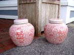 click to view detailed description of A pair of Chinese salmon colored