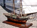 click to view detailed description of A model of the 19th century Whaling Brig