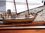 click to view detailed description of A model of the colonial schooner