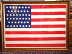 click to view detailed description of A beautiful circa 1908 American flag with 46 stars in the dancing stars pattern