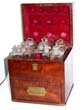 click to view detailed description of A wonderful antique Ships Medicine Chest circa 1830 made by SPRINGWEILER of London.